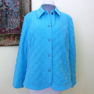 Blue Turquoise Jacket Blazer Size XL